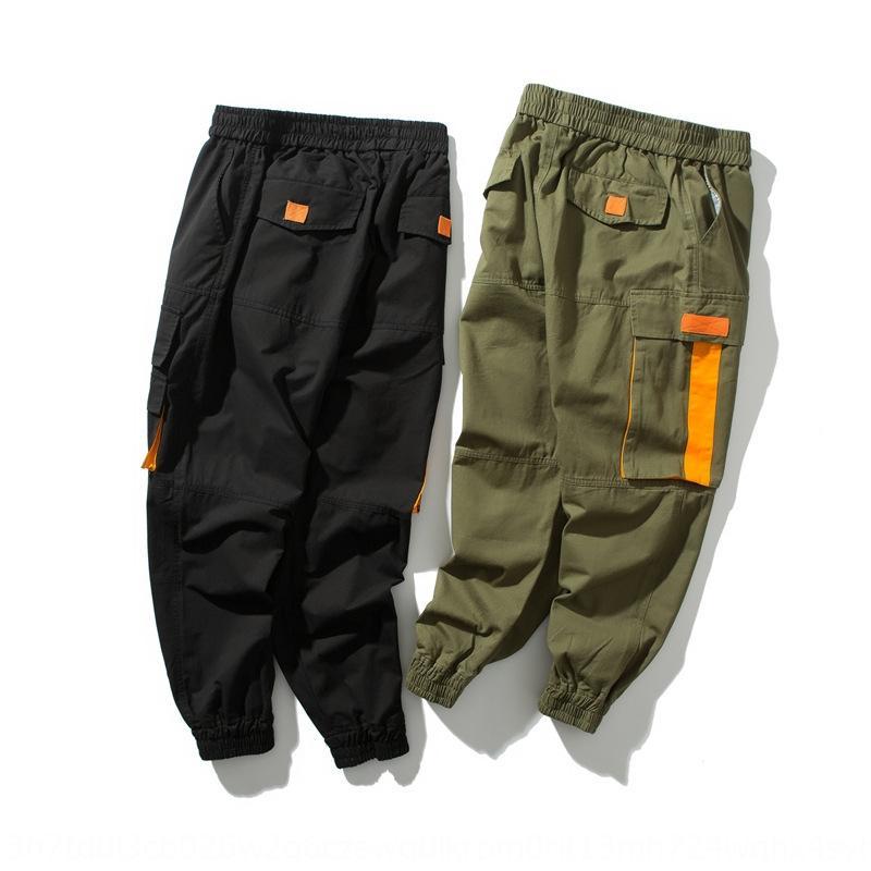 de trabajo y las polainas ocasionales wDtZd Calle trousersTrousers pantalones ajustados de otoño de moda los pantalones hasta los tobillos guapo pantalones de los hombres con cordones de iJyr8