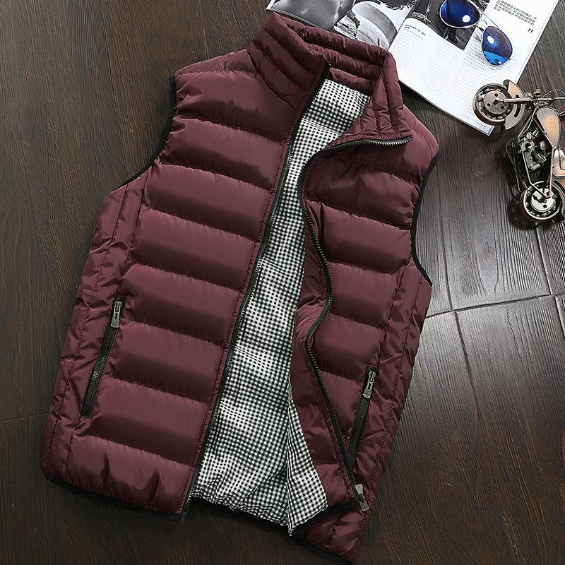 5XL de gran tamaño chaleco de los hombres de otoño abrigos de invierno chaqueta de abrigo chaqueta sin mangas del chaleco de los hombres de la manera del chaleco abrigos para hombre Casual 2020
