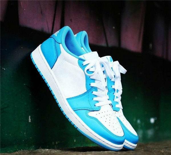 2019 Senza Box Marca SB OG 1 Low UNC scuro Blu polvere bianca pattini correnti degli uomini delle donne di sport scarpe da tennis