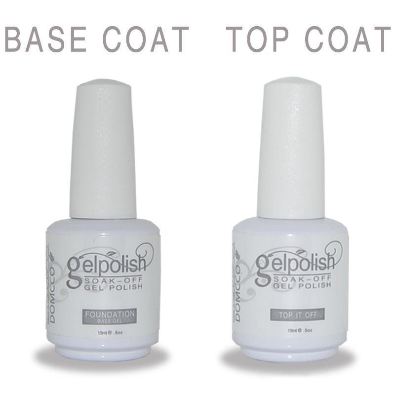130pcs / серия Высокого качества замочить от цвета привел уф гель гель лака для ногтей клея грунтовки основы базового слоя + верхнего пальто