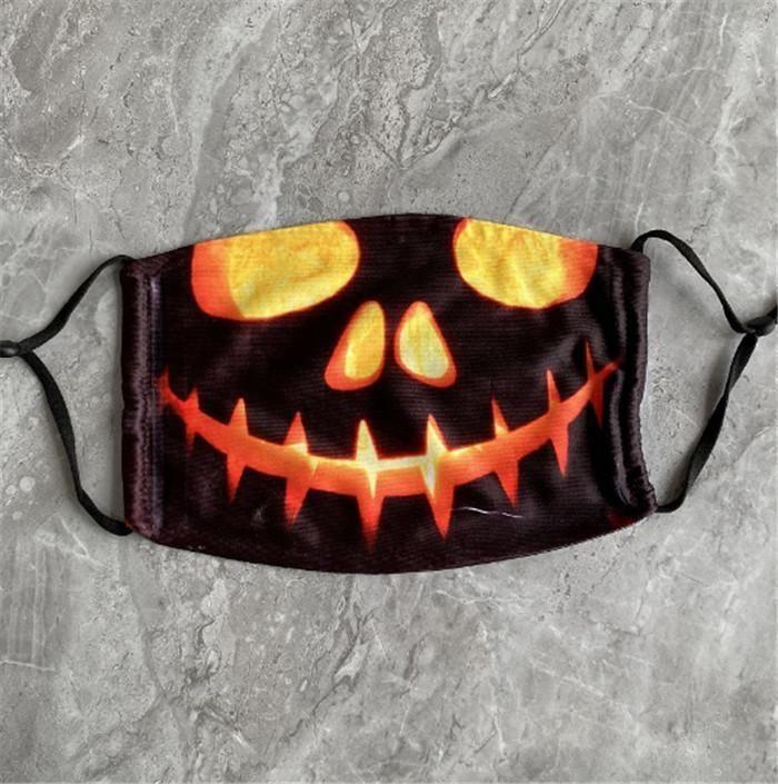 Carbono Careta reutilizável lavável máscara protetora Cotton abóbora reutilizáveis Rosto PM2.5 Pintura da cara Filtros Halloween Kid Máscara 3d BDE2010 KyH