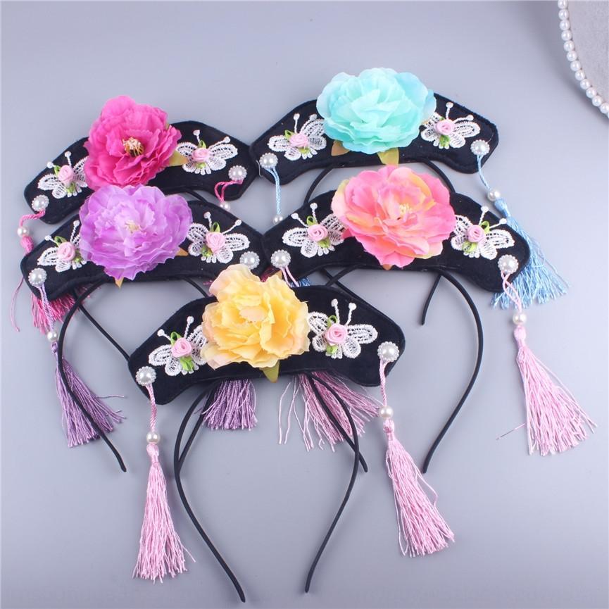Gege hairband en épingle à cheveux comme la tête de drapeau houppe performance accessoires pour cheveux papillon coiffure bande cheveux coiffure papillon couvre-chef en Touri