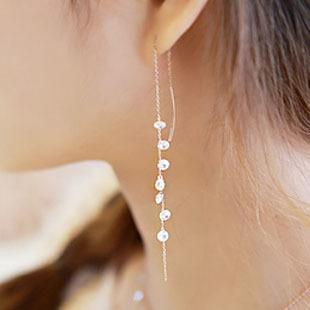 Orecchini S925 Sterling Silver lungo zircone per le donne 2020 nuova tendenza di personalità gioielli Lady Fashion