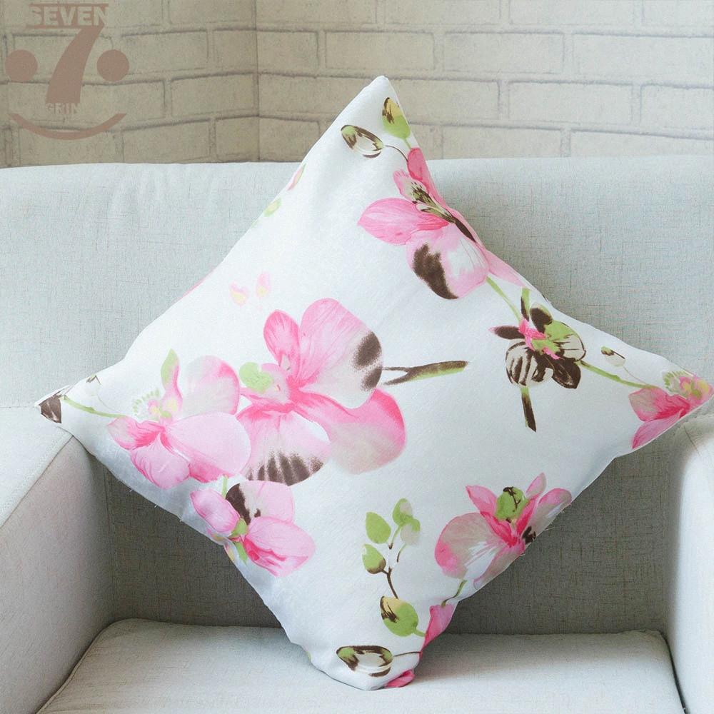 Qualitäts-kreative Rosa-Grau Lila Farbe Burnt Out Mesh-45x45cm Platz Startseite Dekorative Kissen Tasche Unique-Kissenbezug jo4C #