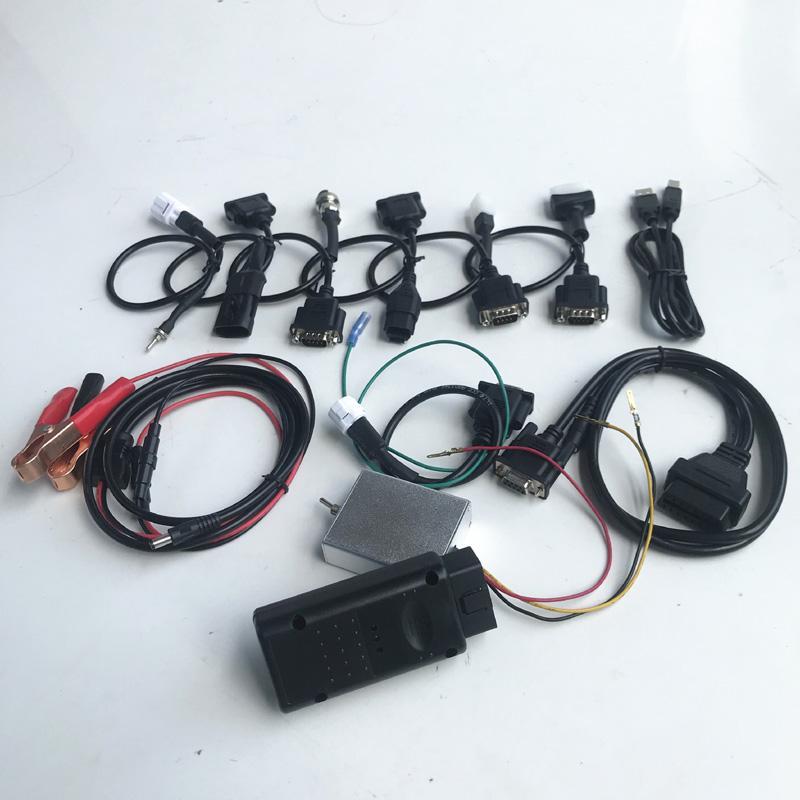 Serie soporte de alta calidad 7 marcas de motocicletas moto escáner herramienta de análisis de diagnóstico de reparación RMT 7in1 accesorios de la motocicleta