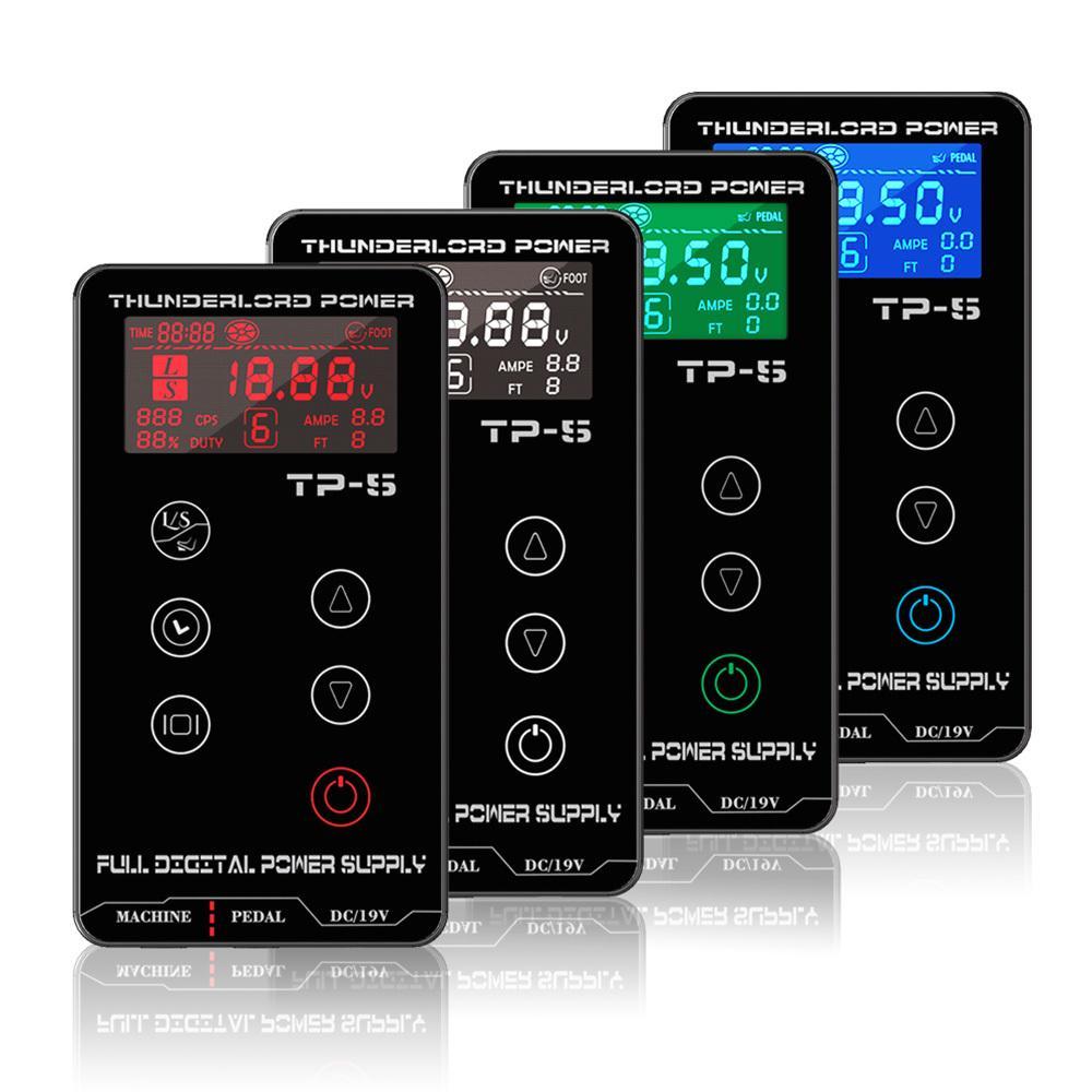 اللوازم شاشة THUNDERLORD الرقمي السلطة الوشم التيار LCD تعمل باللمس المزدوج الطاقة الوشم صندوق لفائف الروتاري القلم آلة الوشم