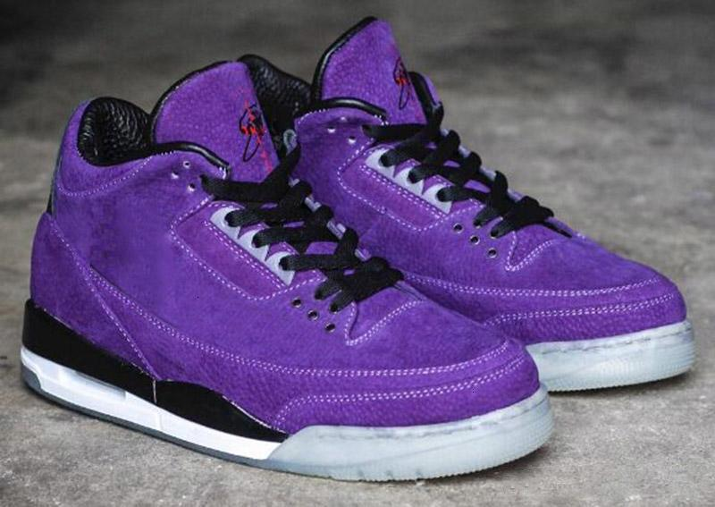 Travis x Jumpman 3 Houston completa Viola Nero Uomo Bambini scarpe da basket 3s Cactus Jack mens scarpa da tennis di sport