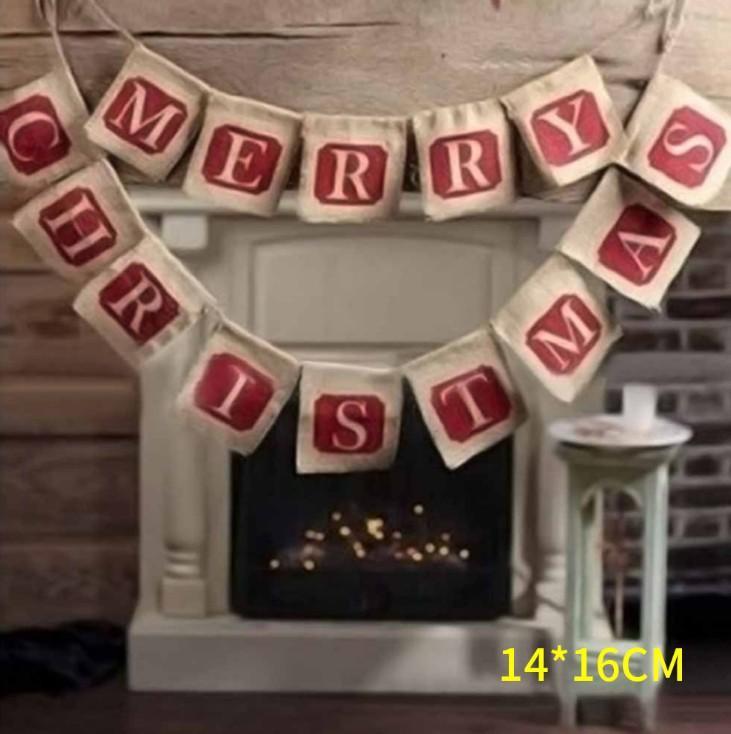 عيد الميلاد لافتة، قماش الخيش كسعماس الديكور، والأبجدية راية، ديكورات الأعلام، products.red عيد ميلاد سعيد الكتان، تجمع عائلي