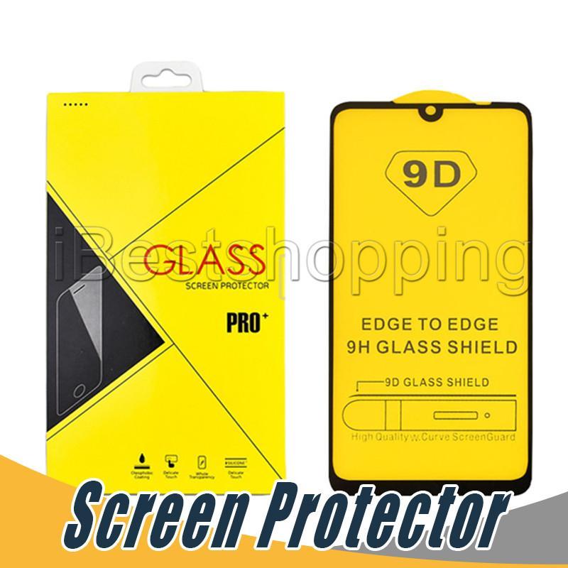 Vetro temperato 9D Creen Protector antischegge pellicola per l'iPhone X XS Max XR 6 6s 7 8 più con Package