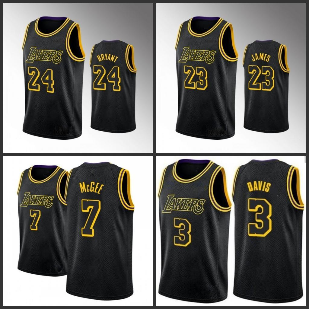 Uomini Los AngelesLakersKobeBryantLeBron James Anthony DavisNBA Lonzo sfera pullover di pallacanestro