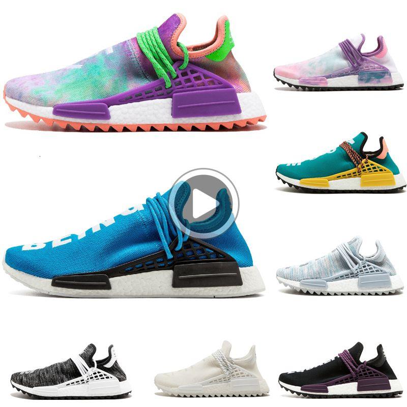 Holi razza umana Scarpe da corsa Pharrell Williams HU Runner Giallo Nero Bianco Rosso Rosa Blu Uomini e donne scarpe firmate sneakers EUR 36-44 B