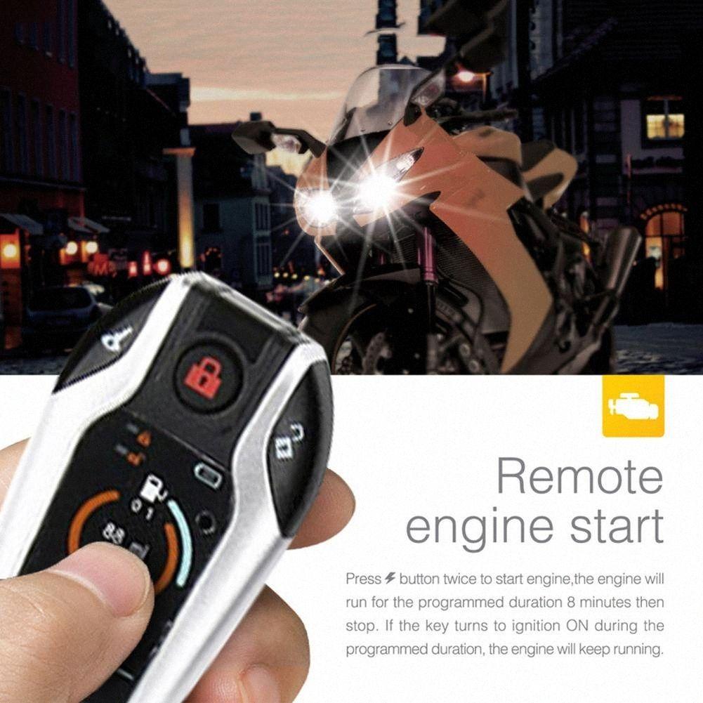 Moto antifurto a due vie di allarme con PKE automatico induzione Inizio Flameout Funzione BL1a #
