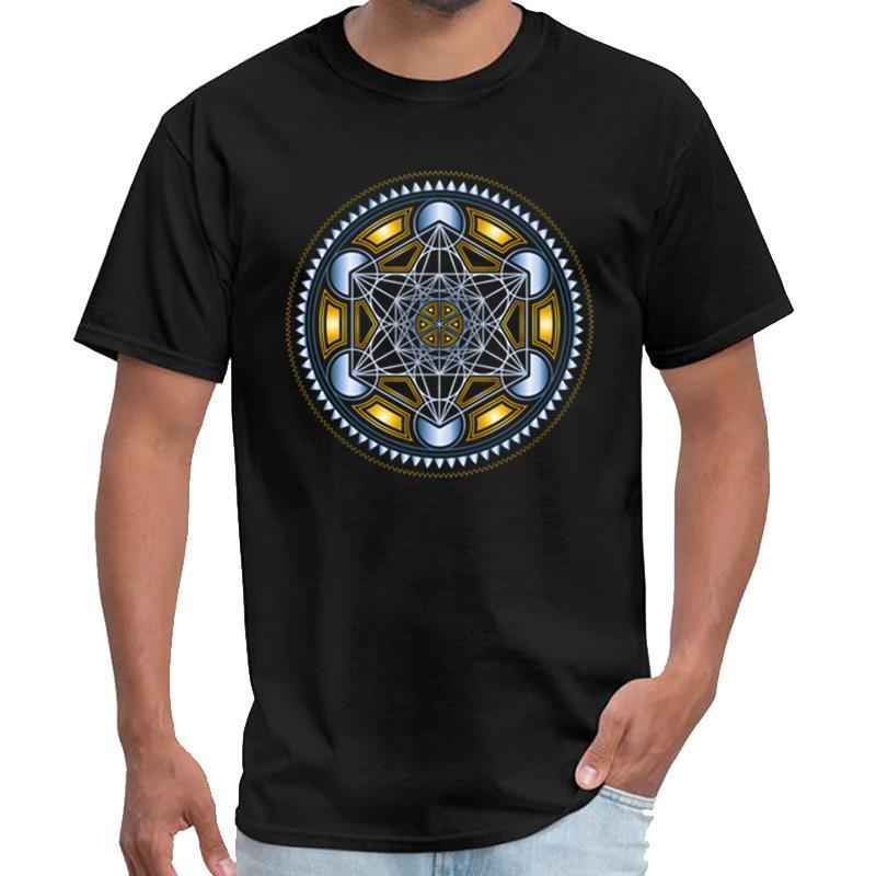 Metatrons CUBO lindo, FLOR DE LA VIDA, ropa ESPIRITUALIDAD hombre mujeres de la camiseta rey tigre camisa de s-5XL camiseta top