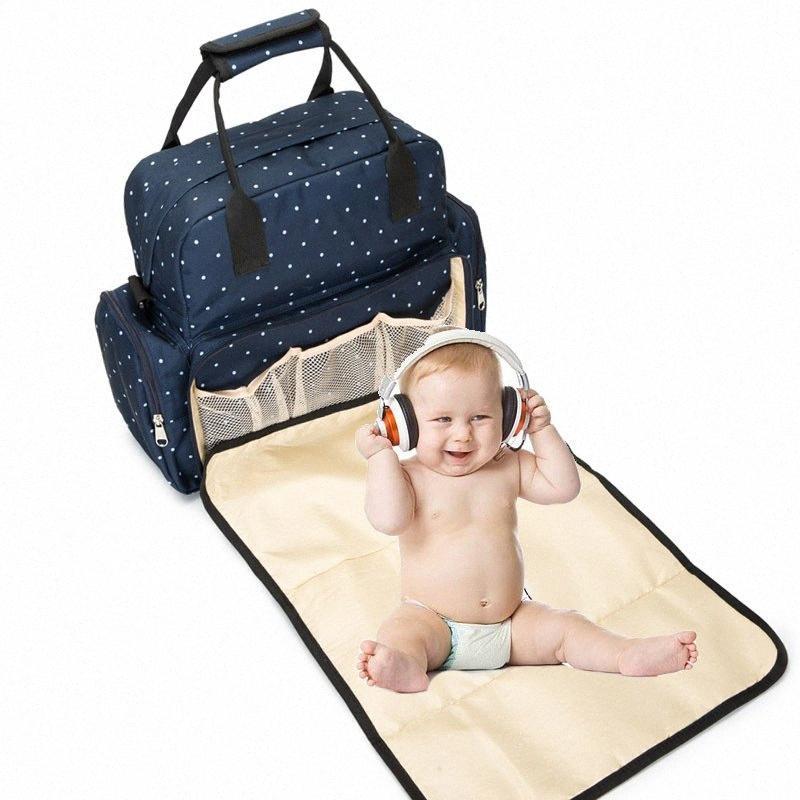 Большая емкость Пеленки сумка Детские Рюкзак пеленания Уход сумка Организатор Водонепроницаемая Mummy Maternity подгузник для детей fOx7 #
