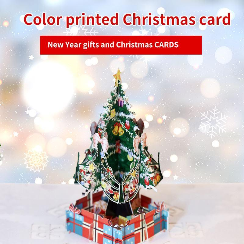3D Up Card Санта-Клауса рождественские олени Открытка Полые Резные ручной работы Подарок Праздник Рождеством Поставки поздравительных открыток