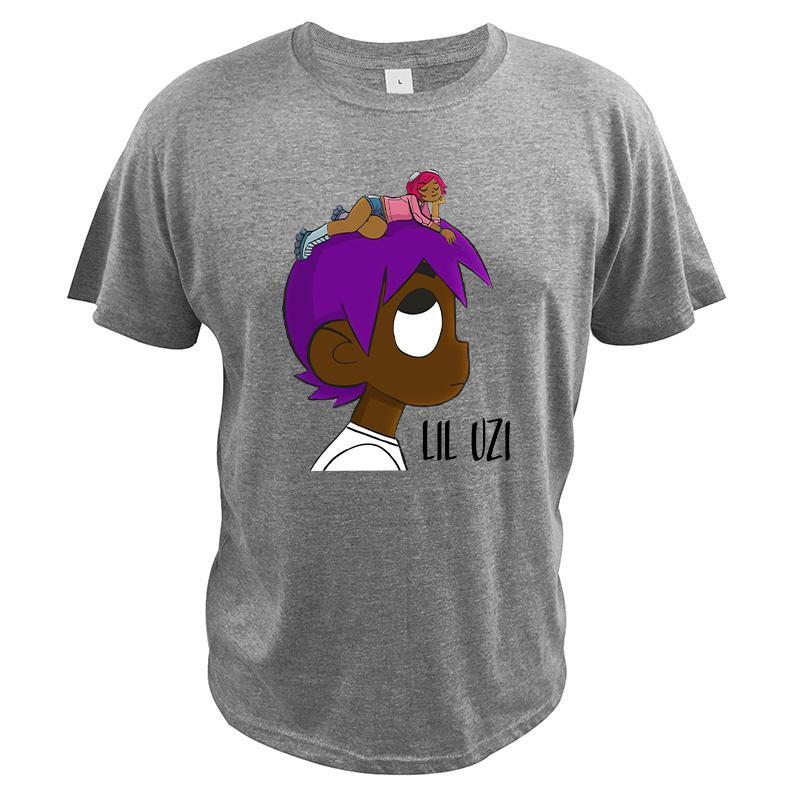 Lil Uzi Vert Camiseta Vs. Hiphop Rapper Cantor novo álbum de Lil Uzi Vert O mundo camisetas Asiático Tamanho Algodão Camiseta