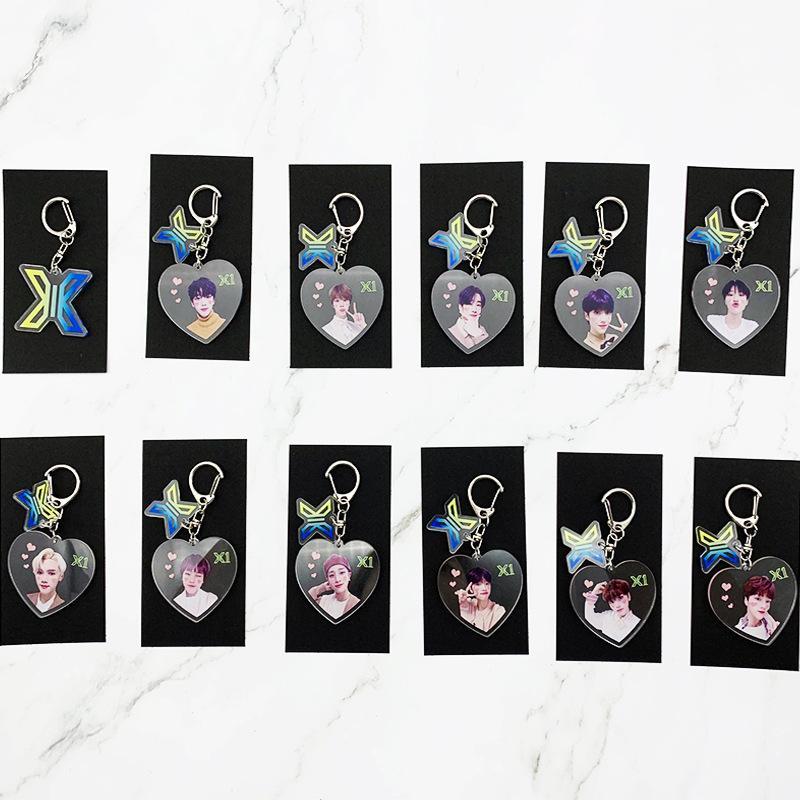 Kpop Produce X 101 X X1 Une combinaison trousseau nouveau coeur même belle clé pendentif porte-clés de la chaîne Creative Keyboard
