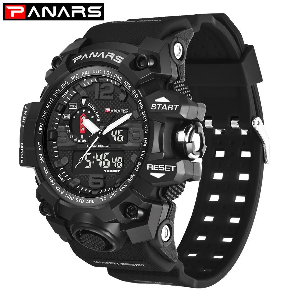 Новые часы подлинной моды спортивные многофункциональные электронные часы любителей популярных мужчин водонепроницаемый оптом