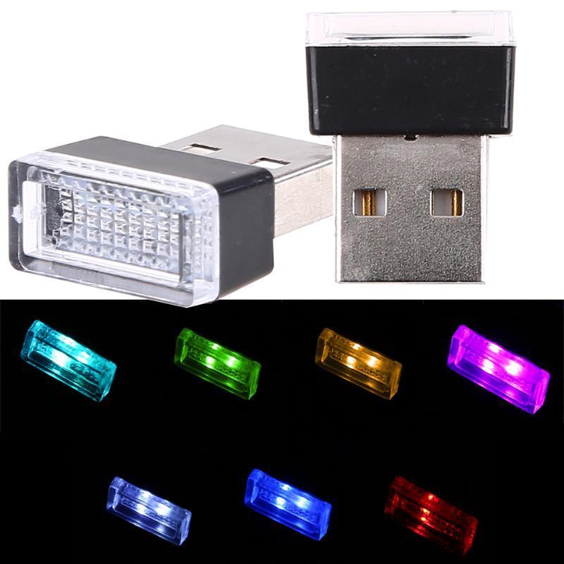 USB светодиодных лампы автомобиль Индикатор Декоративной Атмосфера свет Авто Интерьер Окружающие огни