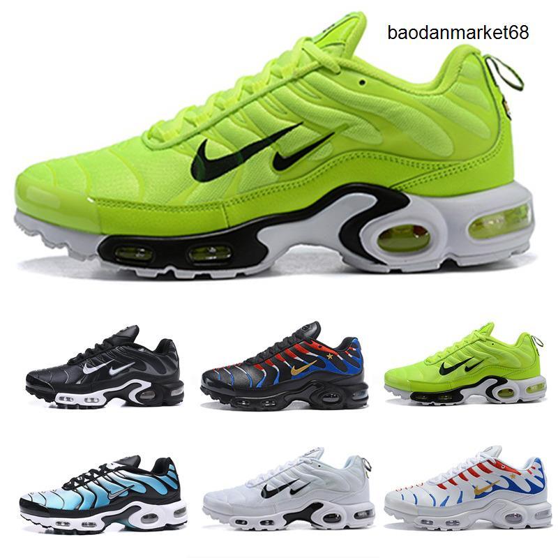 Nike Air Max Vapormax TN Plus Os mais recentes TN Além disso Se Running Shoes Triplo Branco Preto Hiper psíquicos Azul de luxo Óculos Mens treinadores desportivos Sneakers tamanho