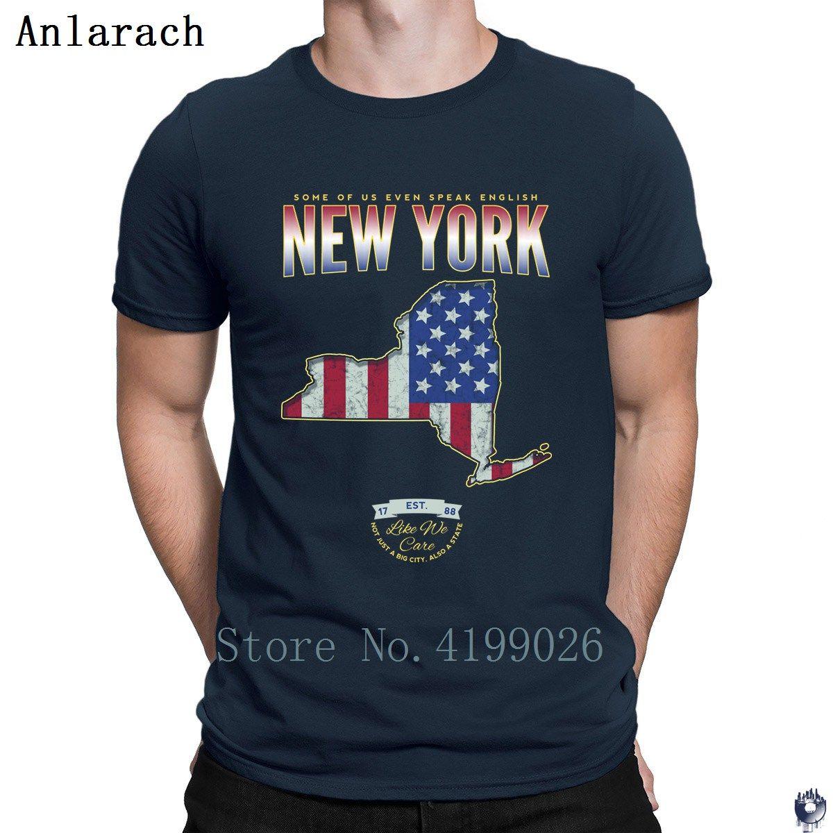 Нью-Йорк, как мы заботимся Tshirts Классической Симпатичной Homme Весна футболки для мужчин Kawaii креативного короткого рукава Лучших качеств