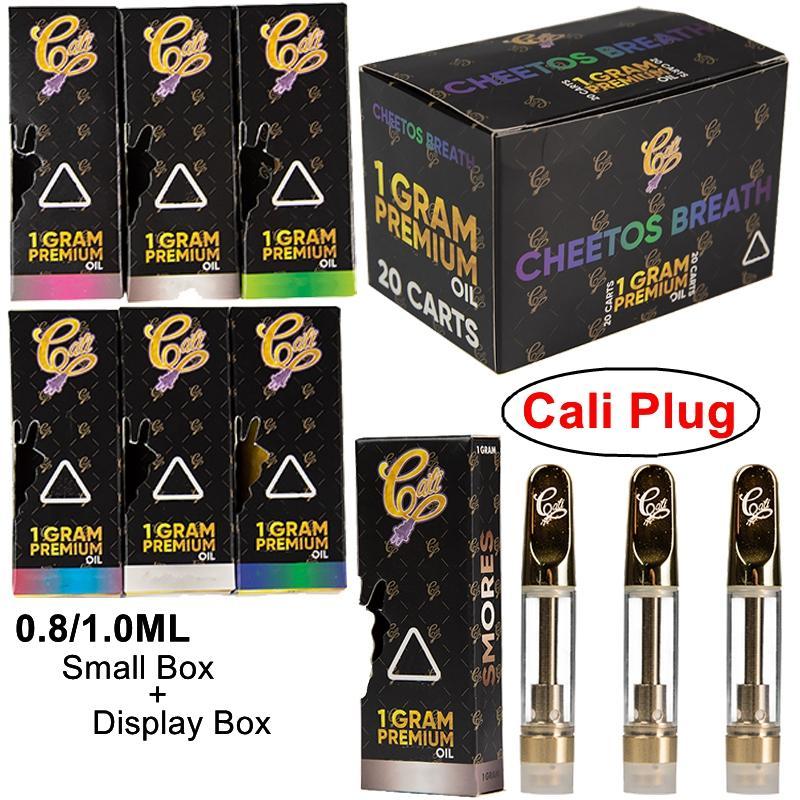 Cali plug Vape Pen Cartuchos CaliPlug Holograma Box 1 ml Cerâmica 510 Tópico bateria Grosso Oil Dab Carrinhos Wax vaporizador E cigarro vazio