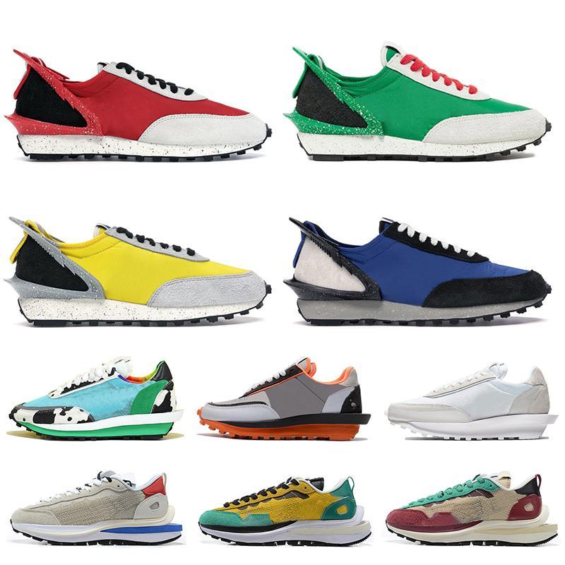 Nike Sacai Waffle LDV Vente chaude Femmes Hommes Daybreak Chaussures de course Université Or Rouge Vert Bleu LDV gaufre Chunky Dunky entraîneur baskets en nylon blanc