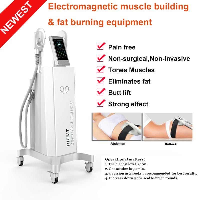 2021 최신 Emslim Hi-EMT 기계 EMS 전자기 근육 자극 지방 굽기 쉐이핑 Hiemt EMS 조각 아름다움 장비
