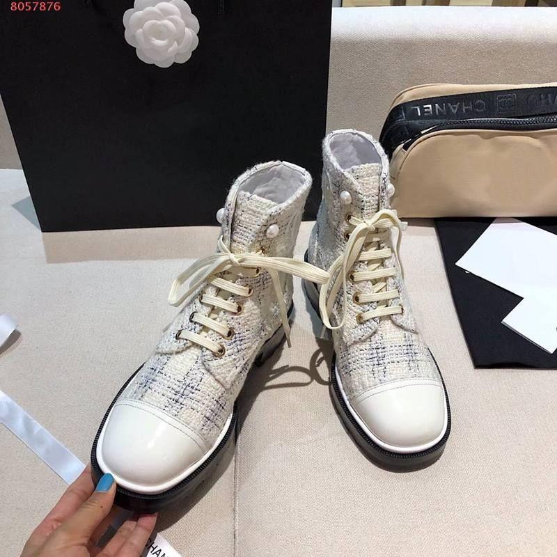 stivaletti in pelle di moda e contratto di tacco grosso scarpe Martin della piattaforma della pelle desert boots stringati scarpe di cotone bianco e nero stampati