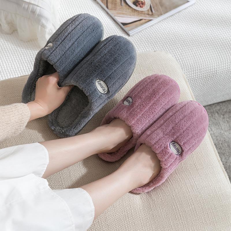 Ev Kapalı Terlik Kadınlar Büyük Beden Ev Ayakkabı Yumuşak Peluş Kız Bayanlar Flats Ayakkabı Terlik Kış Kadın Sıcak Yatak Odası