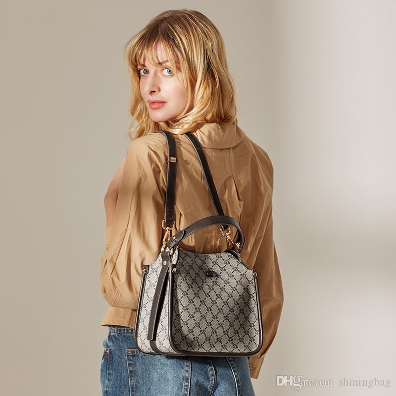 Горячие моды мешки плеча мешок конструктора женщина ретро ведро мешок старый шаблон сумка мешок подарка L9687