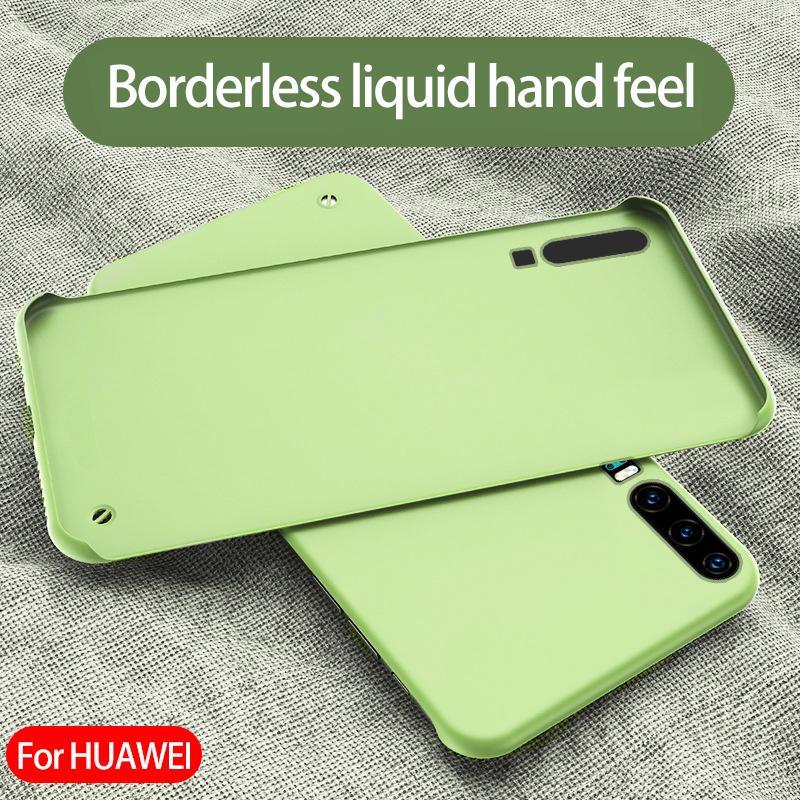 Para Huawei p30 caso de telefone pro Borderless caso do telefone móvel líquido tampa de proteção lavável anti-impressão digital anti-queda