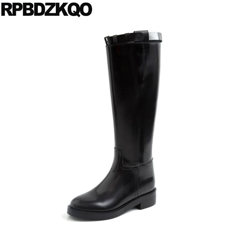 Equestrian Long Boots Patent Leather