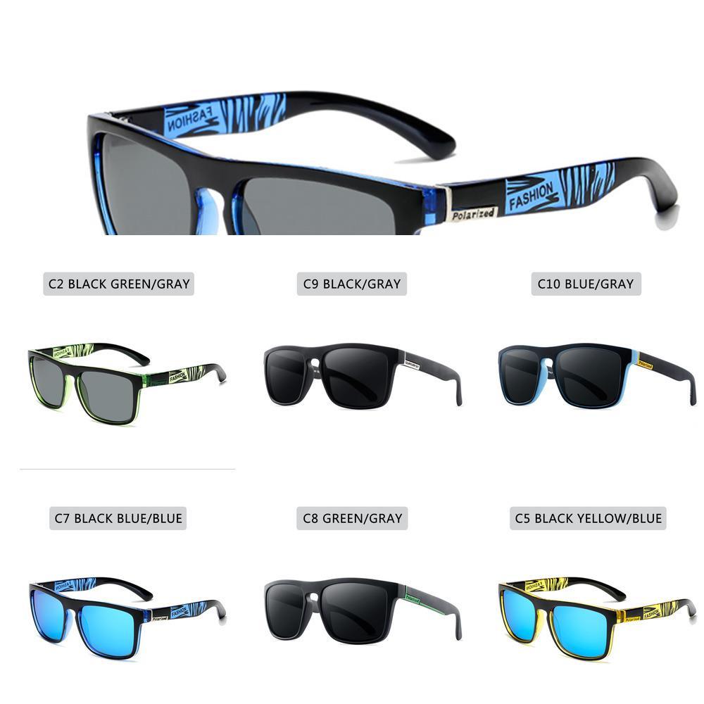 ZXWLYXGX, diseño de marca gafas de sol polarizadas para los hombres y las mujeres, gafas de sol de conducción de los hombres, UV400 gafas cuadradas, gafas de sol