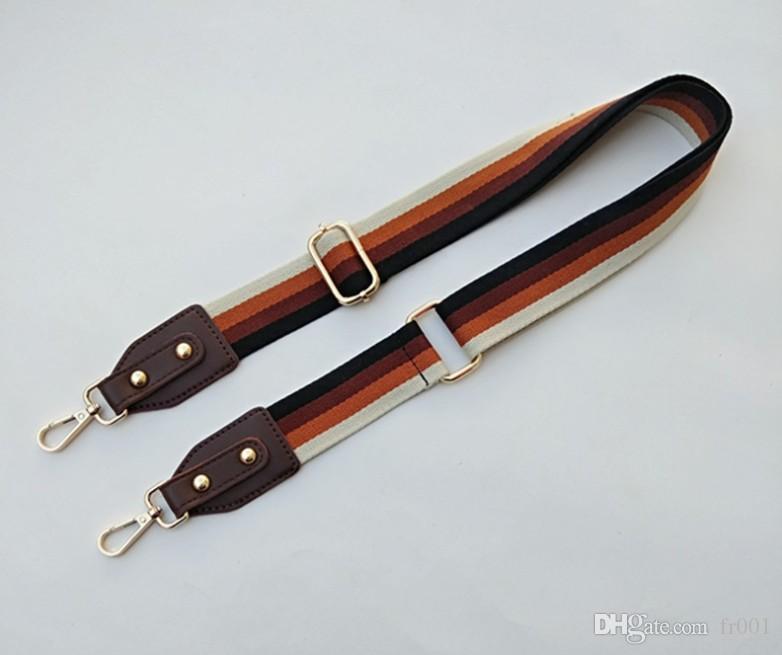 Substituição Bag Strap Flower Belt colorido alças largas para Crossbody Bag Acessórios Ptgirl Nylon Shoulder