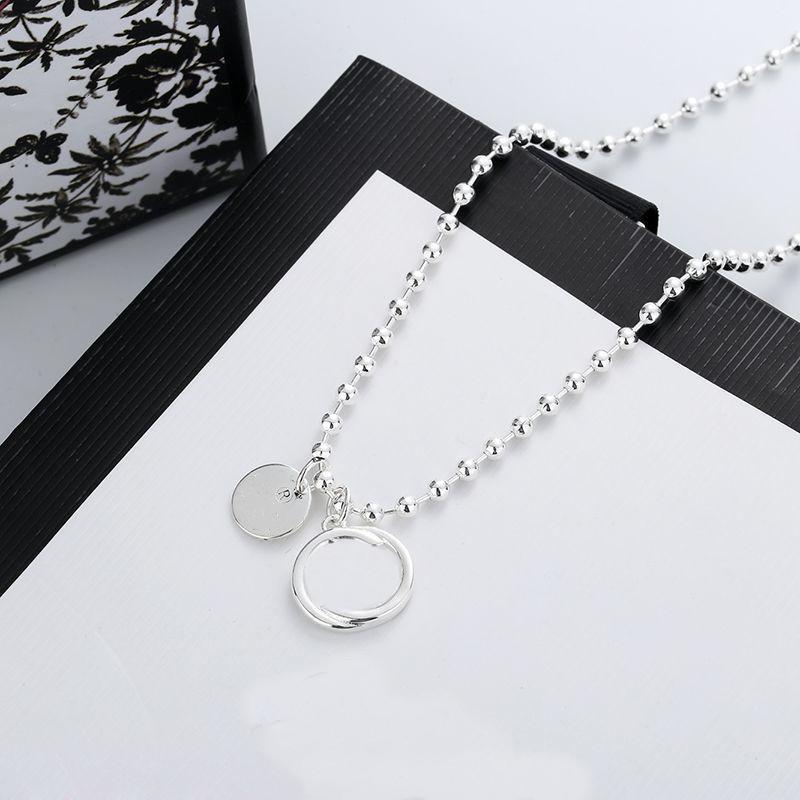 Carta de personalidade chapeamento colar de alta qualidade de prata colar de prata para mulher colar presente de fashion jóias