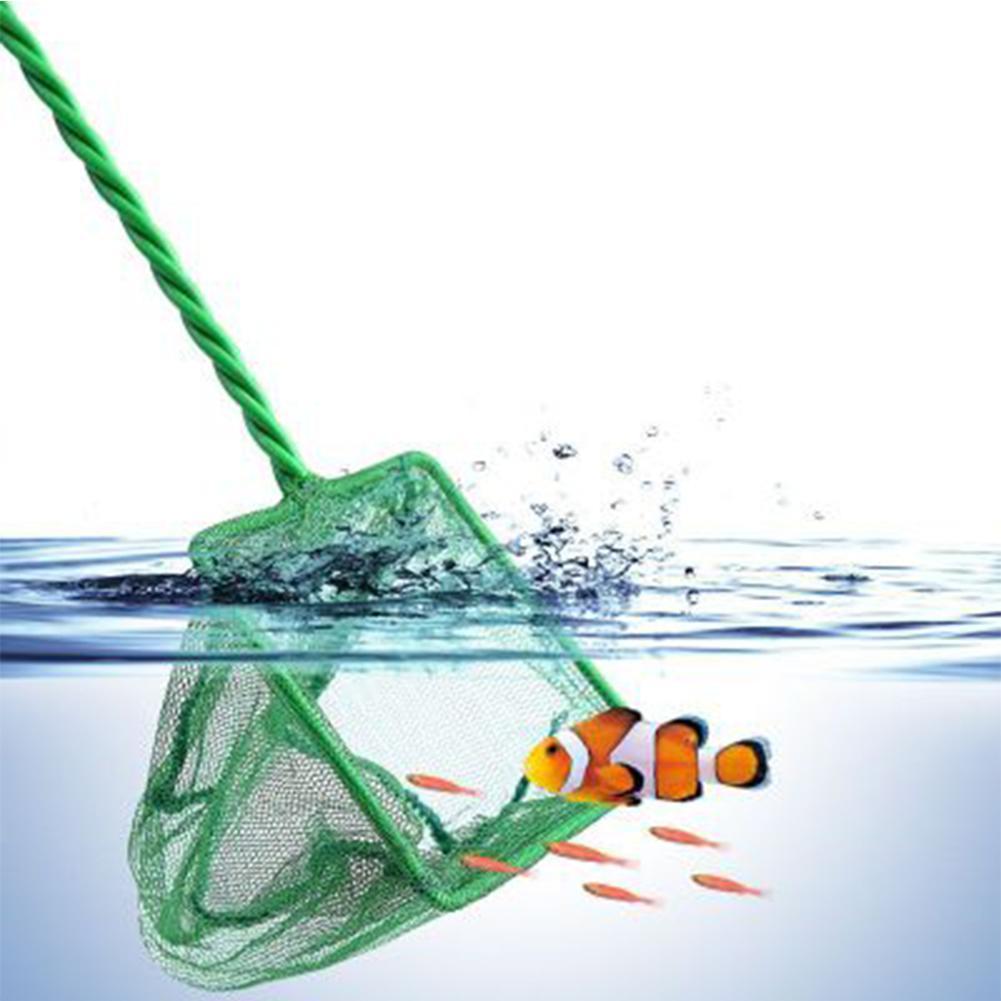 Aquarium Fish Tank Nets Verde Rápido Net Prendedor de peixes no aquário tamanhos de tanque 3