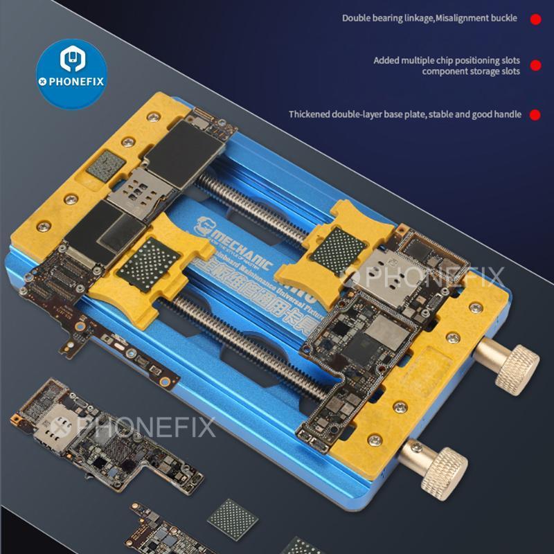 Mechanic MR6 PRO Fixture Universal-PCB-Halter Präzisions-Doppel-Lager Halterung für Telefon Motherboard IC Chip entfernen Kleber Clamp