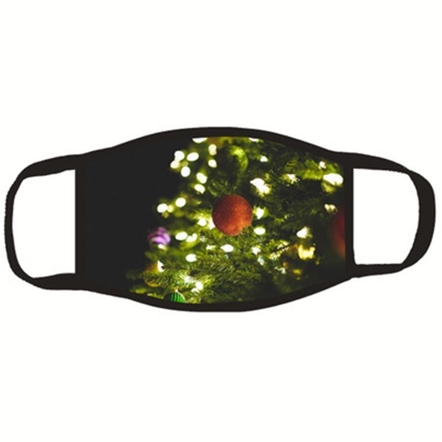 Feliz Navidad Mascherine Estampado de tela transpirable cara de Santa Claus Máscaras reutilizables lavables moda para mujer de encargo Earloop Man 2 2Glb C2 # 199