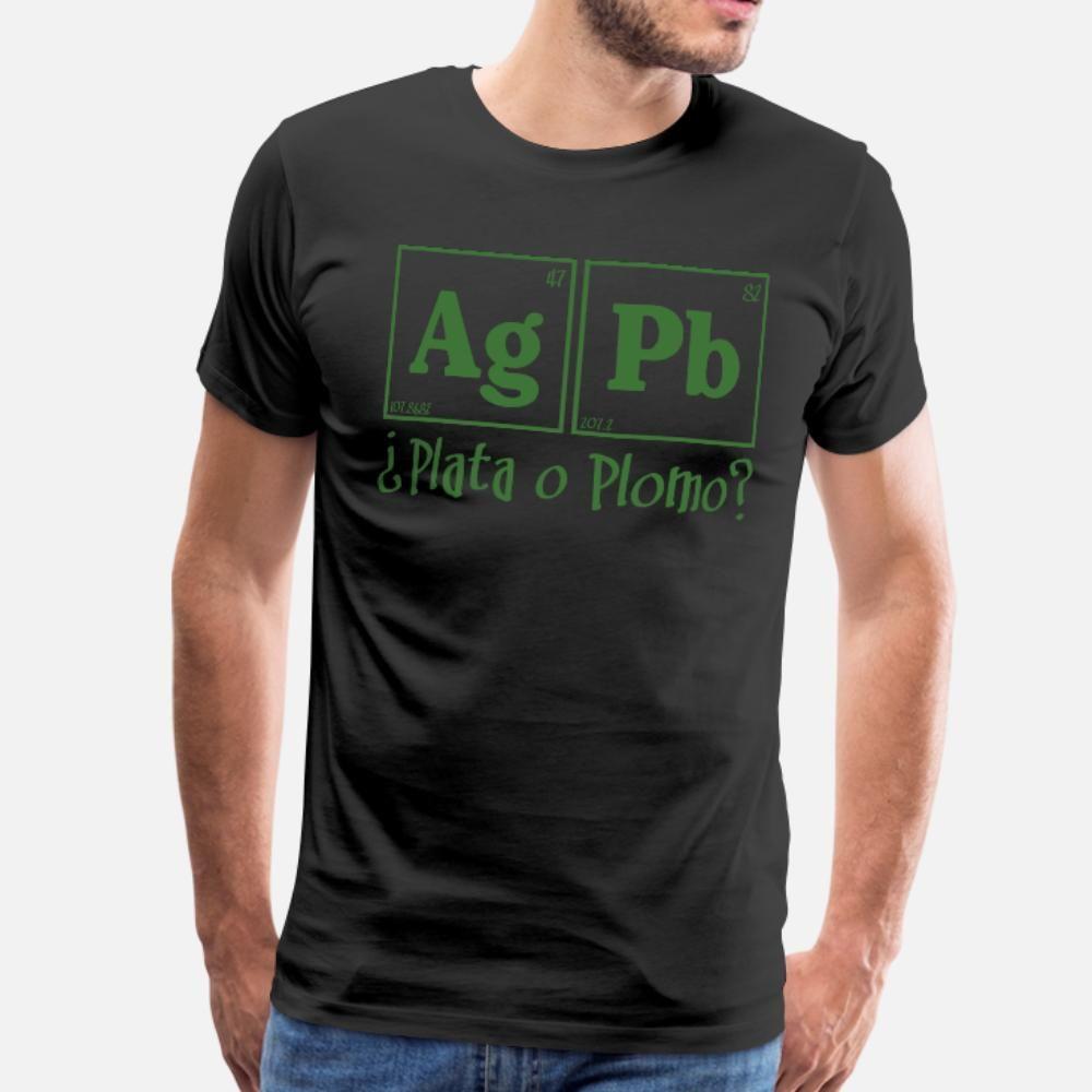 Plata O Plomo maglietta Size Uomini manica corta personalizzata S-3XL di base camicia fredda solida grafica Humour Estate