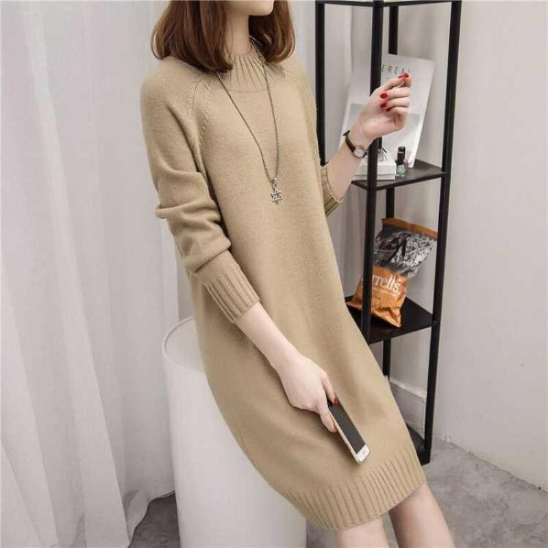 New Fashion 2020 Women Autumn Winter Long Brand Sweater Pullovers Warm Knitted Sweaters Pullover Lady