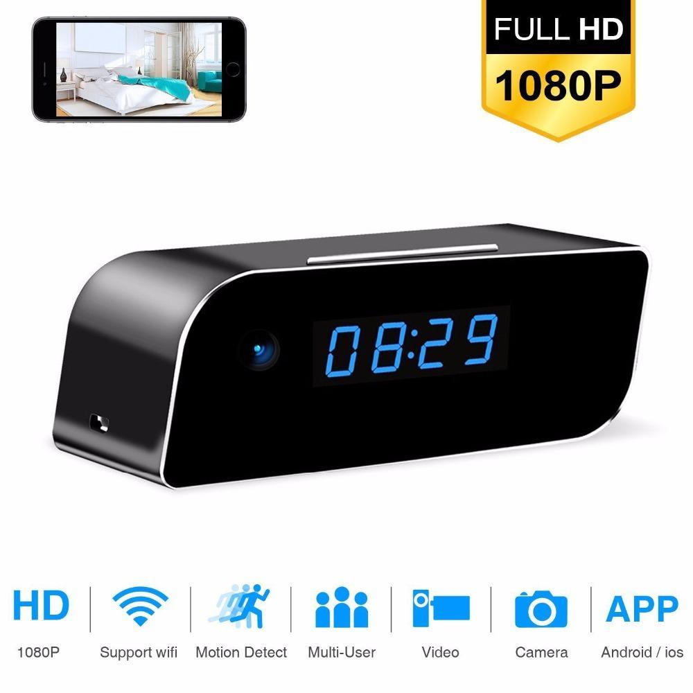 Noite de Segurança HD WIFI Mini Camera Time Table Alarm Clock Movimento Sem Fio IP Sensor Visão Micro Início monitor remoto escondida Nanny Camcorder