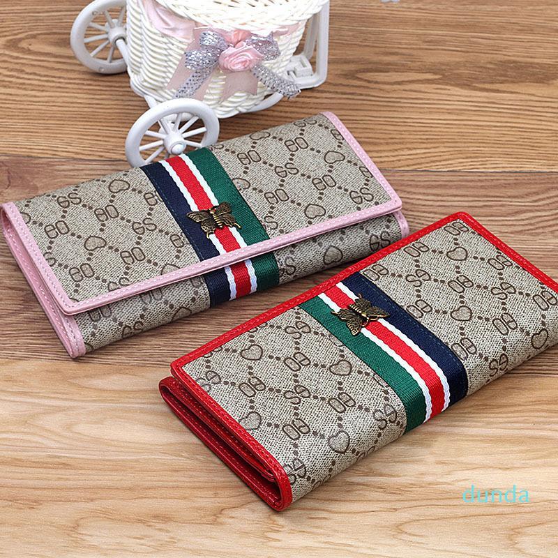 Designer-Wallet Luxusdesignermarke Frauen Mappen Luxus-Designer-Marke Männer Frauen Portemonnaie Mens-Mappen-Mappen-lange Geldbeutel QB059