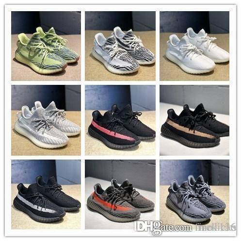 Atacado dos homens do desenhista Sapatos Mulheres Running Shoes Sapatilhas Semi congelado amarelo estática Zebra Trainers Size5.5-12