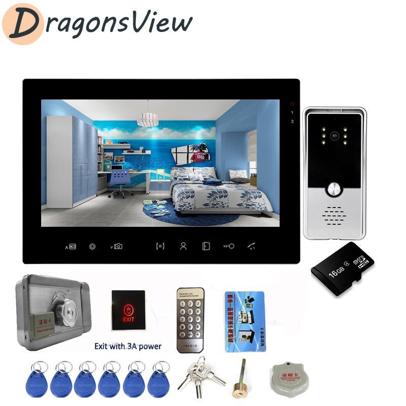 DragonsView 7-Zoll-Video-Türsprechanlage Türklingel Intercom-System 1000TVL Startseite Visuelle Intercom Night Vision mit Bewegungserkennung