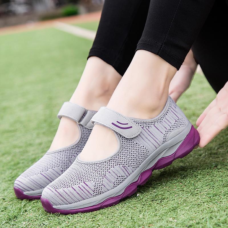 2020 أحذية أزياء الصيف المرأة منصة شقة المرأة تنفس شبكة عارضة حذاء رياضة المرأة Zapatos موهير السيدات أحذية القارب