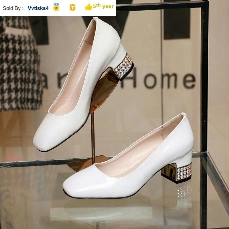 Professional women patent leather chunky heels Women High heels Sandals Slippers Mules Slides PUMPS SHOES SNEAKERS Dress Shoes
