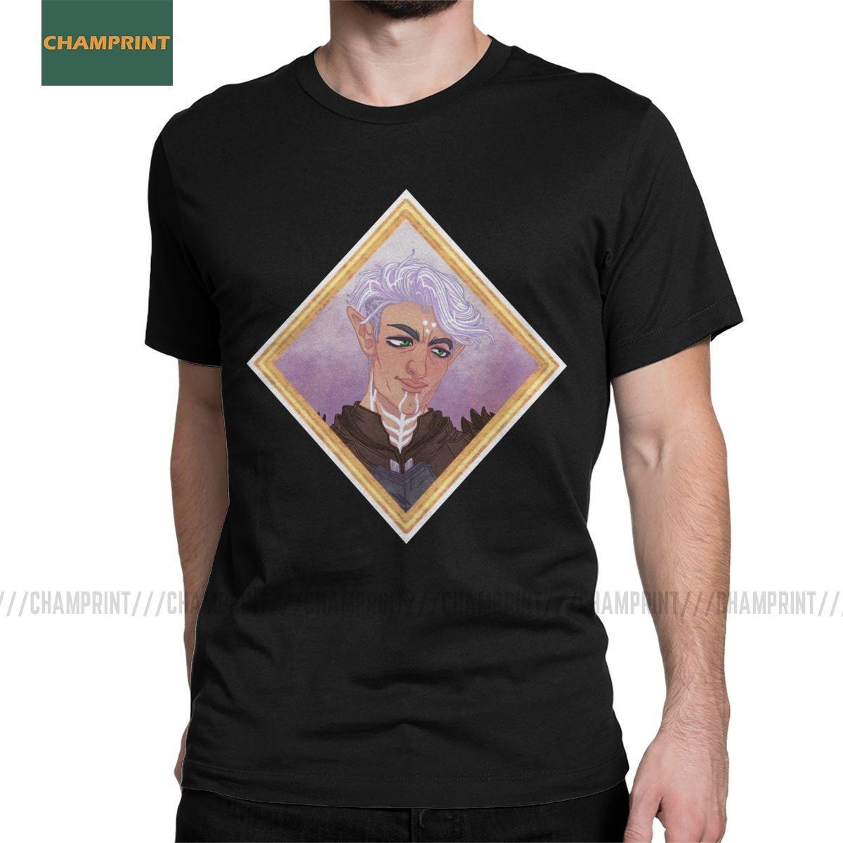 Fenris Dragon Age-T-Shirts für Männer aus 100% Baumwolle T-Shirt mit Rundhalsausschnitt Iron Bull Inquisition Hawke Sera Spiel Tees Kurzarmshirts