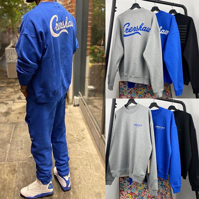 Die Furcht vor Gott FOG Essentials-x TMC Crenshaw LA Begrenzte Crewneck Sweatshirts beiläufige Maxi-Pullover Pullover Männer Frauen Hip Hop Street