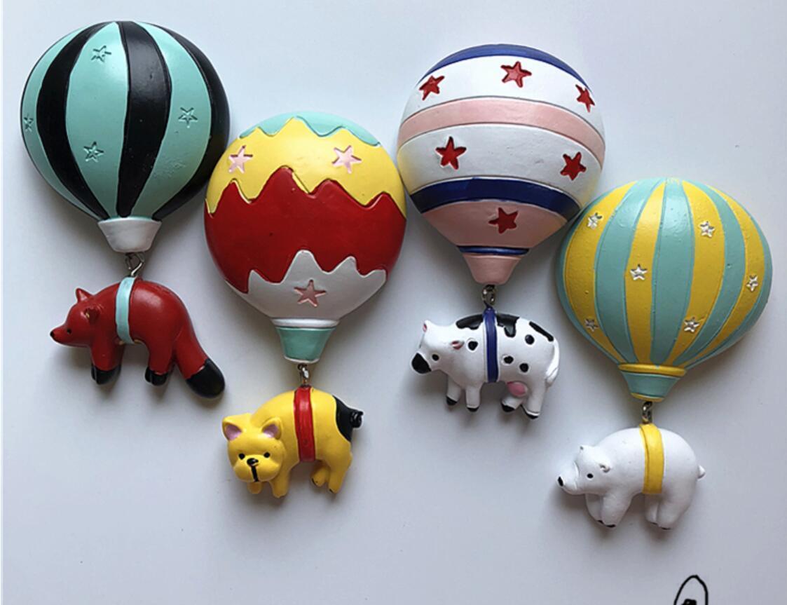 Nevera resina tridimensional dibujos animados animal lindo aire magnético refrigerador globo pasta pasta imanes de frigorífico imanes tphgi